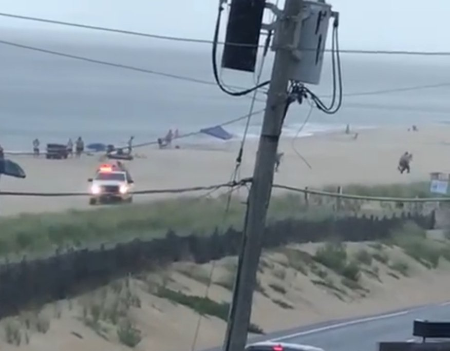 Man struck by lightning while swimming in the ocean off