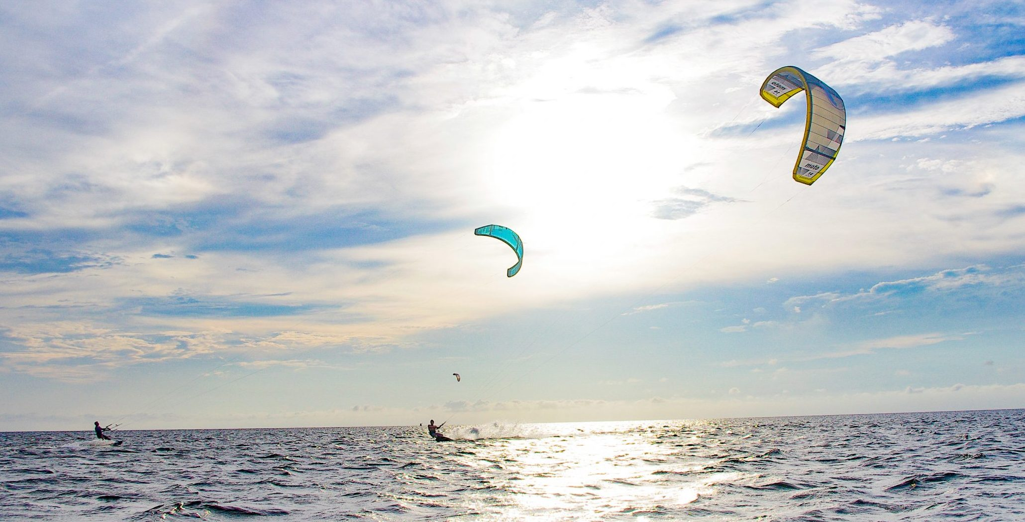 Outer Banks kiteboarders in Rodanthe, NC