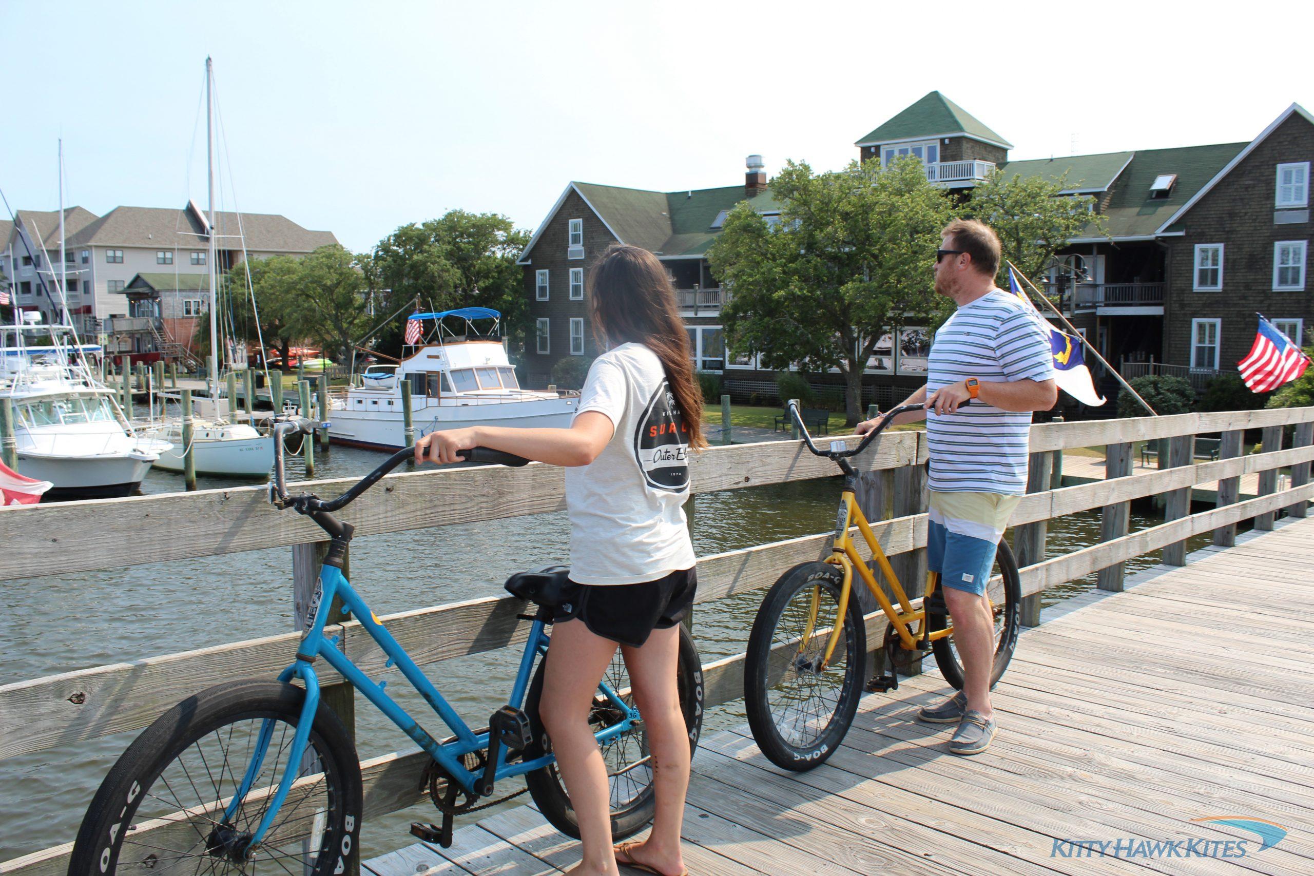 Riding bikes in Manteo