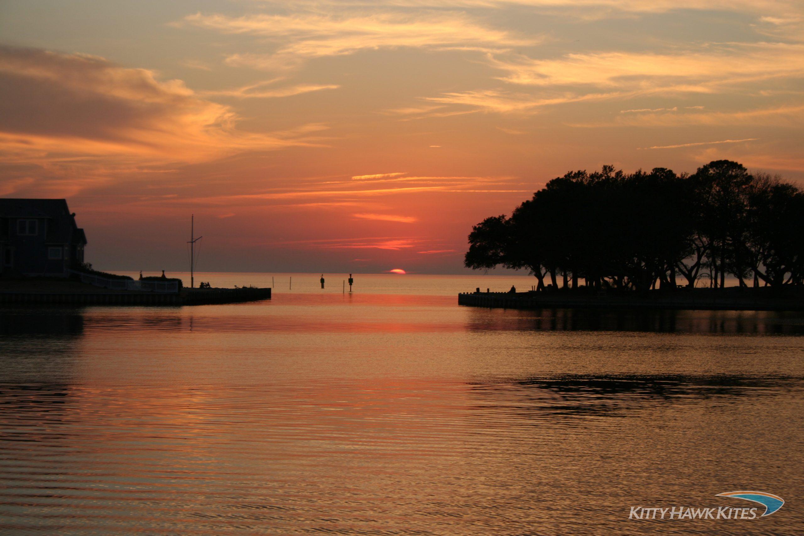 Albemarle-Pamlico sound at sunset