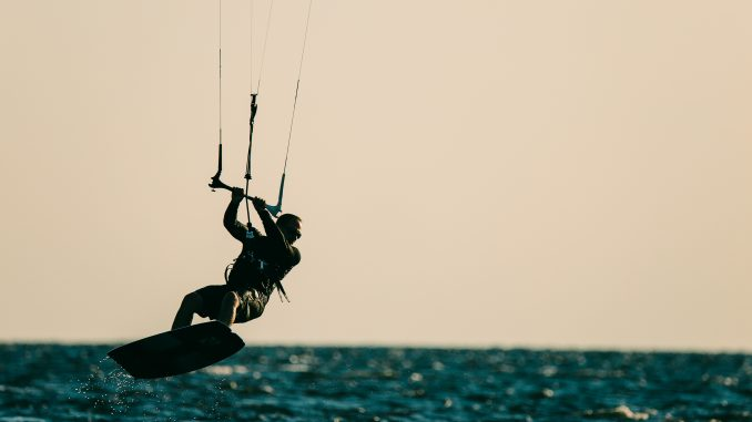kiteboarding at Waves Village Resort in Rodanthe