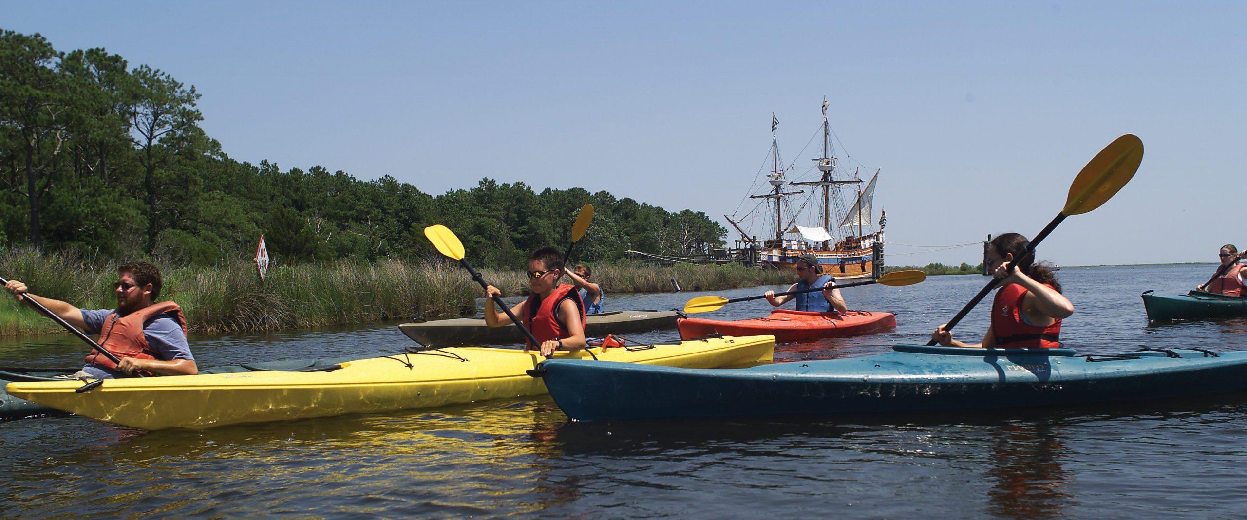 Roanoke Island kayaking