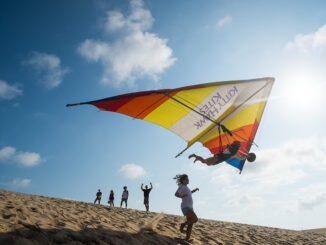 dune hang gliding on the Outer Banks