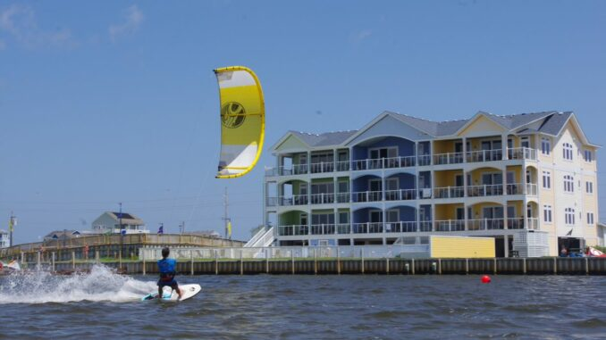 Kitty Hawk Kites kiteboarding in Rodanthe